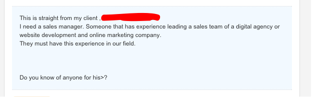 poorly written recruiter email